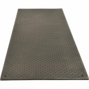 TuffTrak VersaMAT Ground Protection Mat - Black, 8ft.L x 3ft.W, Diamond Plate/Pedestrian Tread, Model VM38