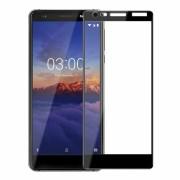 Folie protectie sticla securizata full size pentru Nokia 3.1, negru