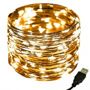 LED Decorative String Light,CrazyFire Yellow Copper Wire Starry Light Strings Décor Rope Light for Indoor and Outdoor Decor,Home Garden, Xmas Festival Party Decorations