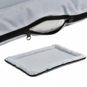 [en.casa]® Pelíšek - pro kočičky a pejsky - se zipem - oxford látka / PP-bavlna - 100 x 70 cm [XL] - šedý