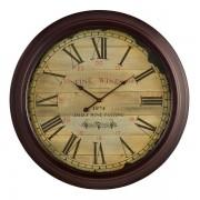Oak Furnitureland Clocks - Fine Wine Wall Clock - Oak Furnitureland