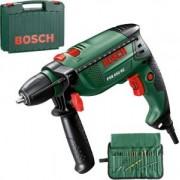 Bosch PSB 650 RE Ütvefúrógép 650 W 220V + 19 részes fúró készlet