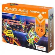 Set de constructie magnetic 72 piese Magplayer