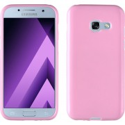 MP Case Samsung Galaxy A3 2017 / A3 2017 Duos Siliconen Hoesje TPU Roze Back Cover voor Samsung Galaxy A3 2017 / A3 2017 Duos Back Case