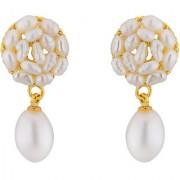 Sri Jagdamba Pearls Aura Drop Pearl Earrings