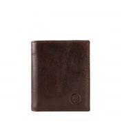 Leder Geldbörse mit Münzfach für Herren in Dunkelbraun - Brieftasche, Portemonnaie, Geldbeutel, Kreditkartenetui