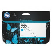 Мастило HP 727, Cyan (130 ml), p/n B3P19A - Оригинален HP консуматив - касета с мастило
