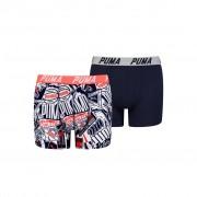 Puma Boys AOP Boxershorts Navy/Red 2-pack-146-152
