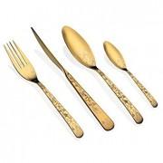 Комплект гравирани прибори за хранене HERDMAR ALFA №1 старо злато - 24 части