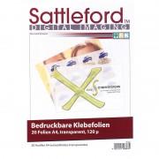 Sattleford 20 Klebefolien A4 transparent für Inkjet