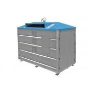 Alső ürítésű 2,5 m3 fém konténer - papír 3931-1