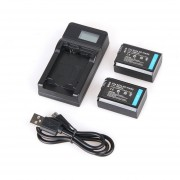Baterías 1080mAh 2PCS NP-FW50 NP FW50 NPFW50 + LCD Cargador Para Sony Cámara
