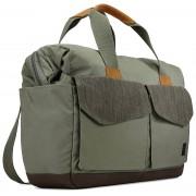 Case Logic Lodo Satchel Travel Bag LODB-115GRA - елегантна чанта с дръжки и презрамка за MacBook Pro 15 и лаптопи до 15.6 инча (зелен)