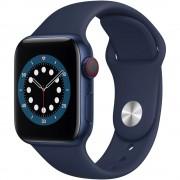 Apple Watch S6 GPS + Cellular 40mm Blue Aluminium Case Deep Navy Sport Band