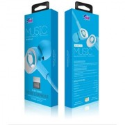 Bell Metal Universal Earphone Super Bass In-line Remote Control Wired Headset 3.5mm (Blue - 642)