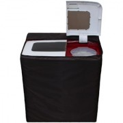 Glassiano Coffee Waterproof Dustproof Washing Machine Cover For semi automatic Panasonic NA-W70H2ARB 7 kg Washing Machine