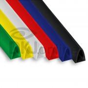 Perfil peg doc acabamento de faixas, banners e placas, 10 mm, 15 mm ou 20 mm de 30 cm a 3 metros Preto