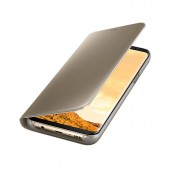 Samsung Clear View Stand Cover EF-ZG955CFEGWW - оригинален кейс с поставка, през който виждате информация от дисплея за Samsung Galaxy S8 Plus (златист)