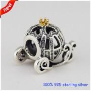 CKK Past Pandora Armbanden Cinderella Pompoen Zilveren Kralen 14 K GoldOriginele 925 Sterling Zilver Bedels DIY