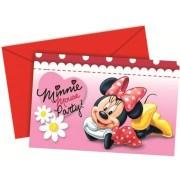 Set 6 invitatii Minnie Mouse