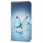 Nokia 5 Glam Wallet Case - Blue Butterfly
