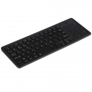 Backlight Slim Bluetooth Keyboard Numeric Key Touch Pad for iOS Android Windows - Black