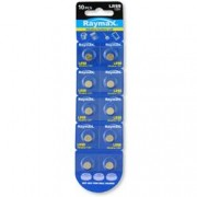 Raymax Batteries Batterie a bottone Alcalina LR59 LR726 396 AG2 (set 10 pz)