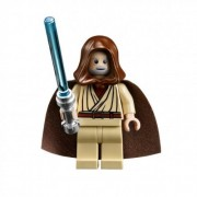 LEGO Star Wars Obi-Wan Kenobi hooded Jedi minifigure (Millenium Falcon - Death Star version)