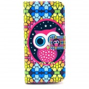 """MULBA Colorful Owl Card Holder Cover For Iphone 6 PLUS 5.5 """",Magnetic Style PU Leather Case Wallet Flip Stand Flap Closure Cover For Apple Iphone 6 PLUS 5.5 """"inch"""