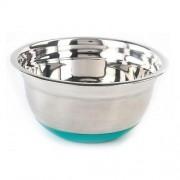 Bol inox satinat 22 cm, baza antiaderenta silicon, Vanora