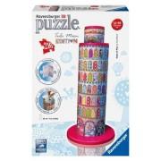 Puzzle 3D - Turnul din Pisa colorat, 216 piese