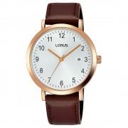 Lorus RH940JX-9 Cadran blanc avec montre-bracelet date Quartz/Acier inoxydable/Or Rose