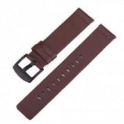 Curea din piele naturala compatibila cu Samsung Galaxy Watch Active Telescoape QR 20mm Maro