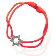Star Friendship Day Gift Bracelet in Silver with Diamonds