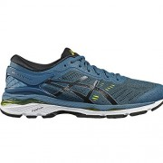 ASICS Men's Gel-Kayano 24 Ink Blue/Black/Safety Yellow Running Shoes - 7 UK/India (41.5 EU)(8 US)