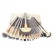 TRIBALSENSATION Conjunto de 18 pincis de maquilhagem Pelo sinttico Cabo de Mad