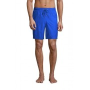 Lands' End Badeshorts in Unifarben für Herren, 20 cm - Blau - 56-58 von Lands' End