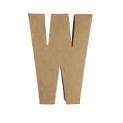 Rayher hobby materialen Letter W van papier-mache