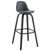 CLP Taburete AVIKA con tapizado de cuero sintético completo con soporte de color cappuccino, negro negro, altura del asiento