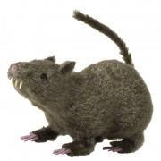 Geen Harige decoratie rat bruin 21 cm