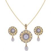 Sri Jagdamba Pearls Graceful Pearl Drop Pendant Set