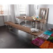 DELIFE Bankje Live-Edge 175x40 Acacia bruin frame smal