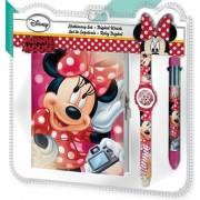 Disney Minnie Napló + 6 színű toll + Karóra