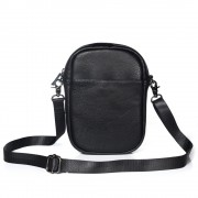 Women's Crossbody Bag Satchel Shoulder Bag Handbag Mini Practical Fashionable Clutch Purse Pouch (Vertical Style) - Black