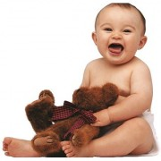 EJA Art cute-baby-teddy-poster-hd Without Frame Paper Poster Size 30X45 cms (With 12 Butterfly Free)