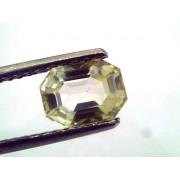 1.88 Ct Unheated Untreated Natural Ceylon Yellow Sapphire/Pukhraj