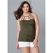 Plus Size Strappy Detail TOP Tops - Green