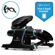 Klarfit Galaxy Step Mini stepper fitness step charge 120kg écran LCD noir& bleu