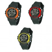 VITREND New Trend Sports Triple Combo Pack of 3 (Random Colors Will Sent) Dial Stylish Return Gift Digital Watches for Boys and Girls