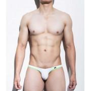 Mategear Nan Song Tapered Sides V Front Series III Ultra Pouch Bikini Swimwear White 1091203